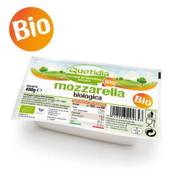 Mozzarella BiologicaQuotidia 400gr